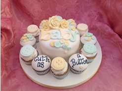 New Baby Cake and Cupcakes