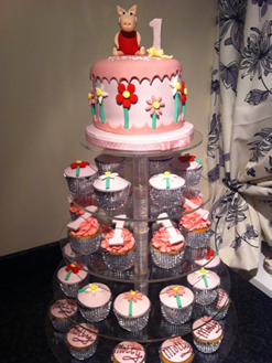 Peppa Pig Cake and Cupcakes