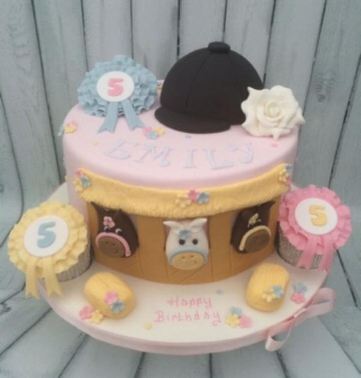 Horse Riding Birthday Cake