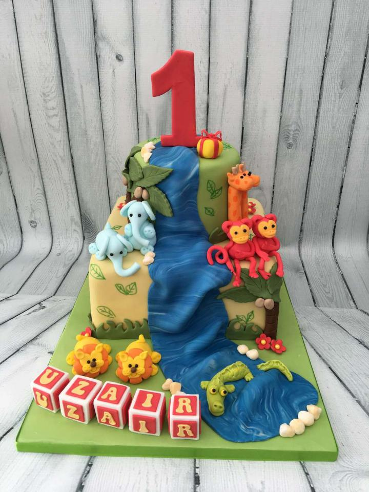 Animal Cake for a 1st Birthday