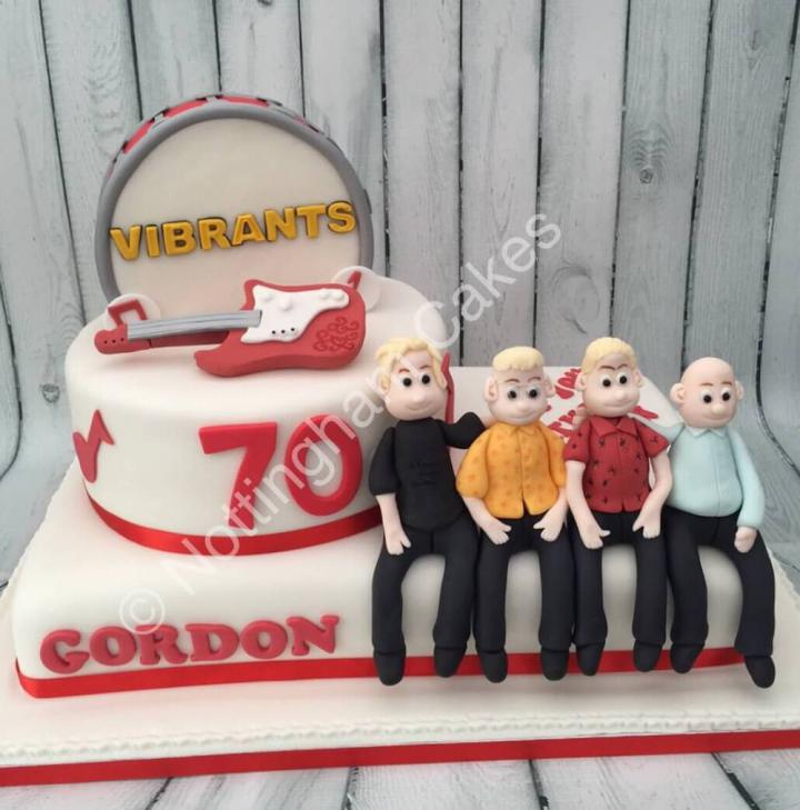 Band Cake for 70th Birthday