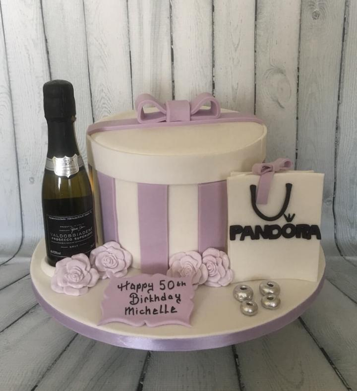 Prosecco and Pandora Birthday Cake
