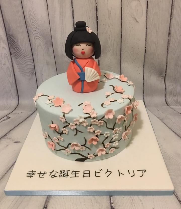 Japanese Decorated Birthday Cake