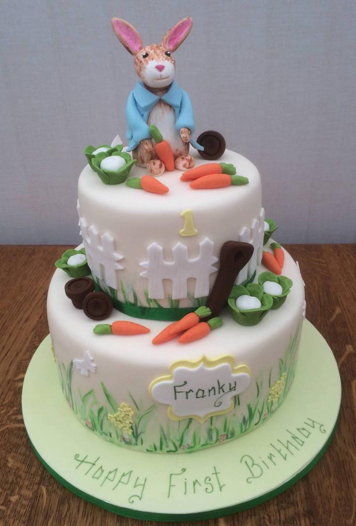 First Birthday Cake - Peter Rabbit theme