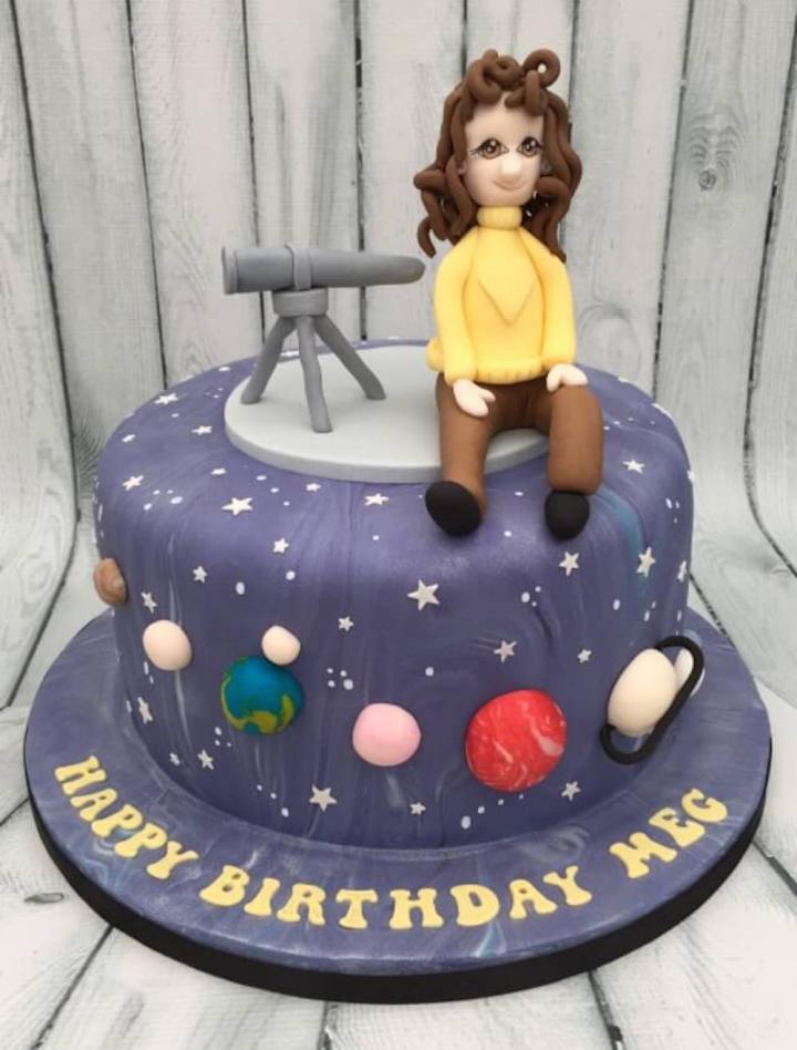 Astronomer Birthday Cake