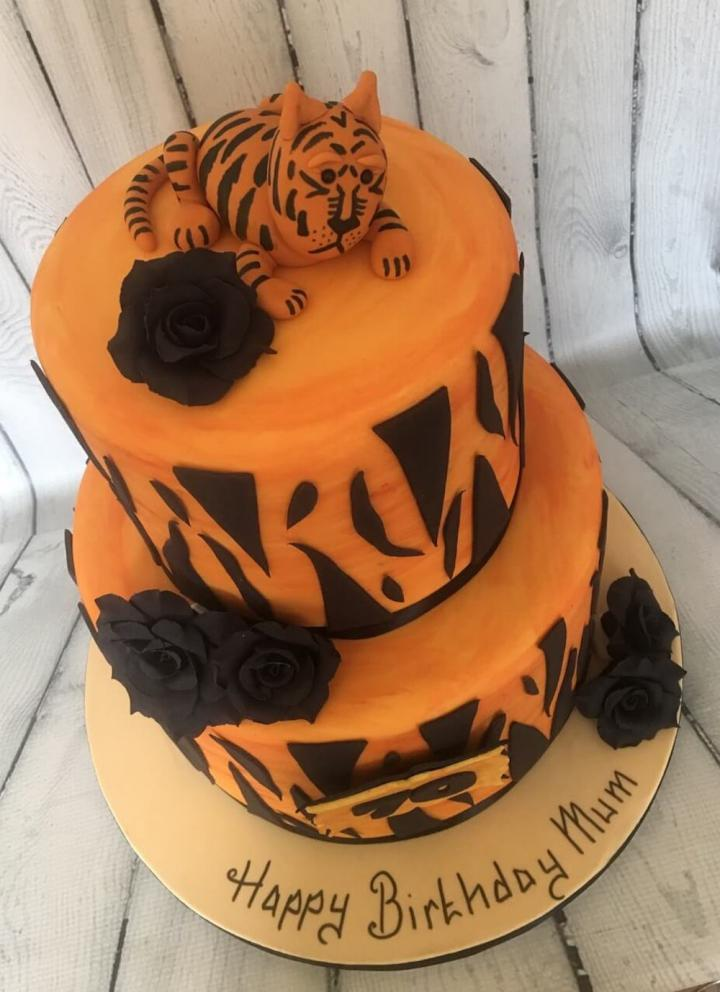 Tiger Birthday Cake for Mum