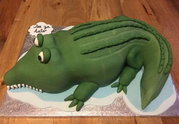 See You Later Alligator Celebration Cake