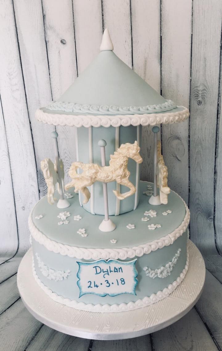 Merry Go Round Celebration Cake for Baby