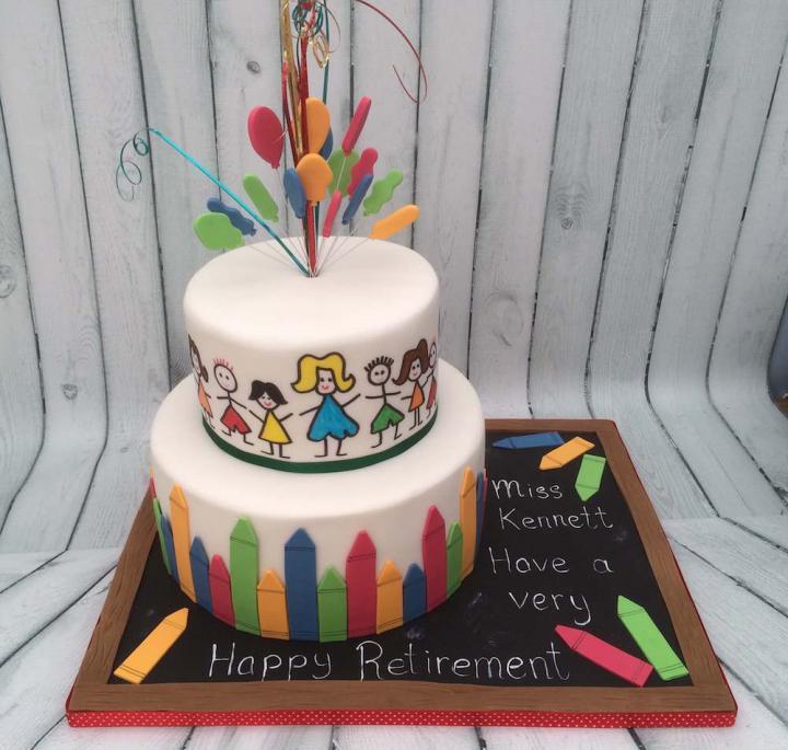 Happy Retirement Cake for a Teacher