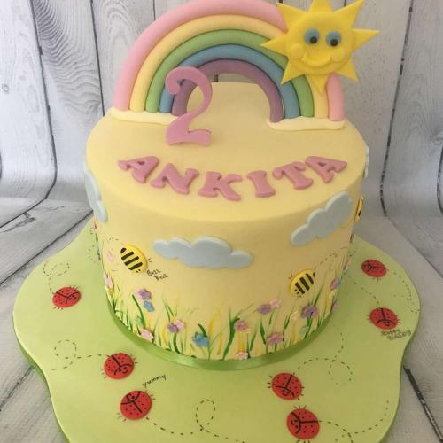 Summer Garden Birthday Cake