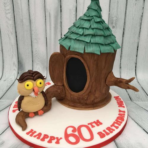 60th Birthday Owl Cake