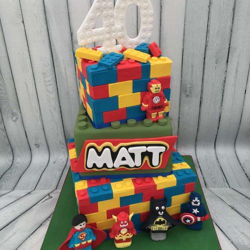 40th Birthday Cake - Lego theme