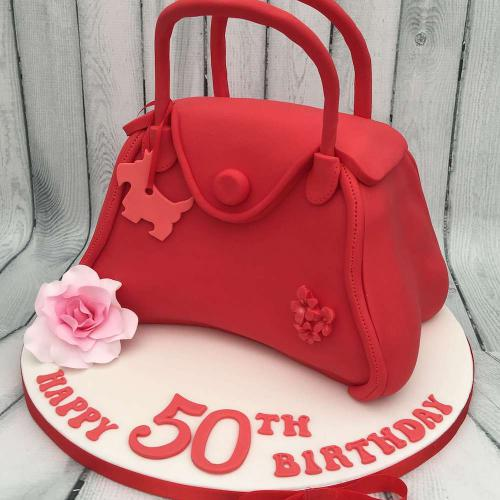 50th Birthday Handbag Cake
