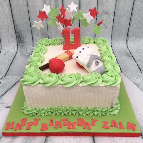 Cricket Birthday Cake