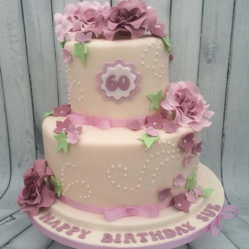 Two Tiered Birthday Cake