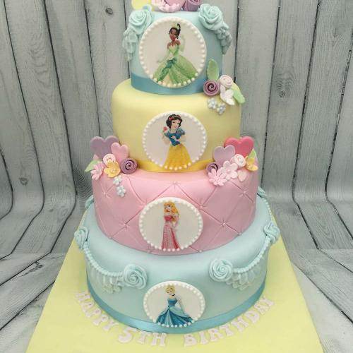 Four tier Disney Princess Cake