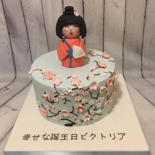 Japanese Decorated Birthday Cake