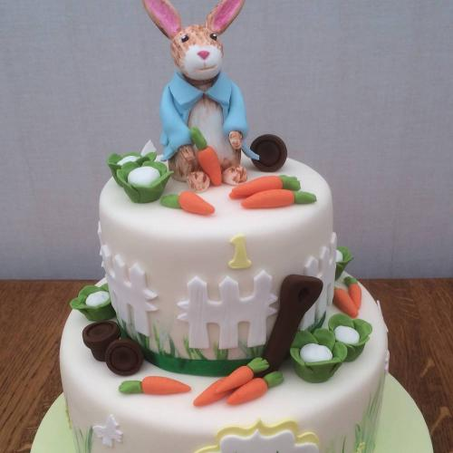 First Birthday Cake - Peter Rabbit theme