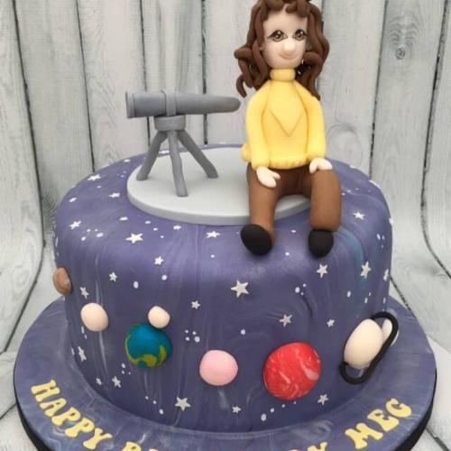 Astronomer Birthday Cake