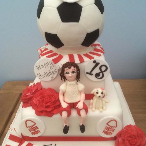 Nottingham Forest Birthday Cake
