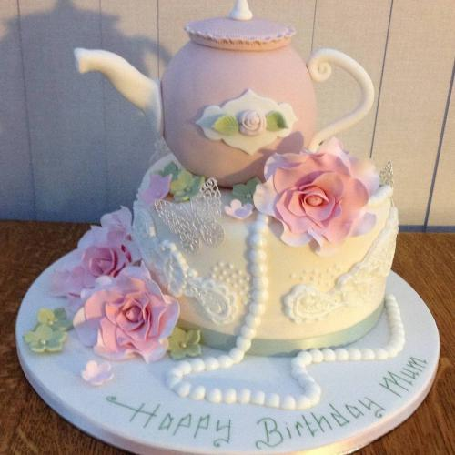 Teapot Birthday Cake for Mum