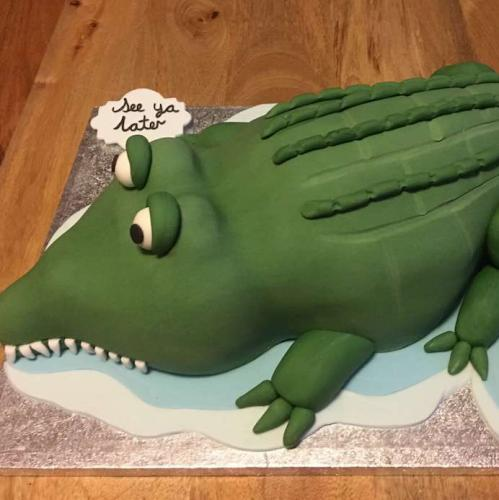 See You Later Alligator Celebration Cake
