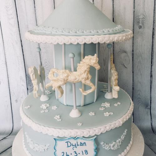 Merry Go Round Celebration Cake for Baby