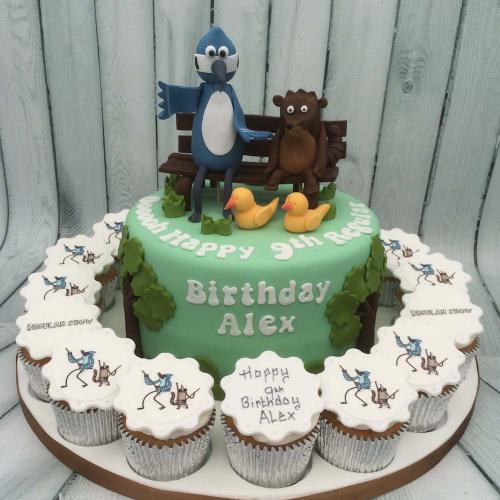Childs Birthday Cake and Cupcakes
