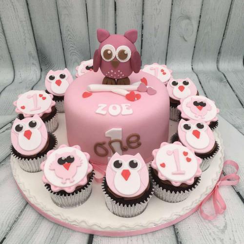 1st Birthday Cake and Cupcakes